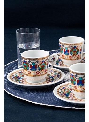 Güral Porselen Güral Porselen Sedef Kahve Fincan Takımı 6 Kişilik SF12CKT084542 Renkli